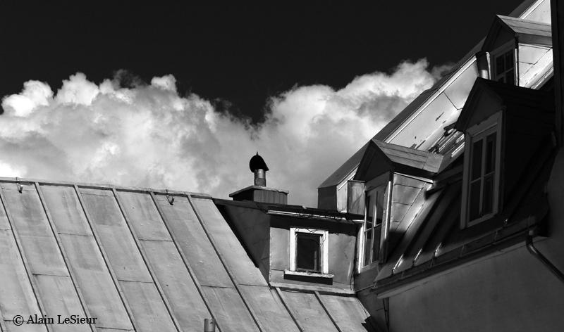 Lesieurphoto toit de t le baguette ville de qu bec for Toit de tole